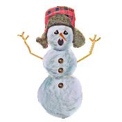 Snowman in hunters hat