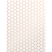 Already There- Copper Vellum Honeycomb Journal Card