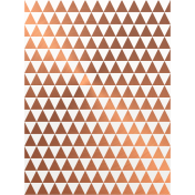 Already There- Copper Vellum Triangles Journal Card