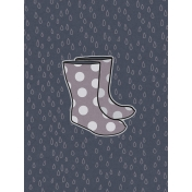 Cozy Day Journal Card- Rain Boots (3x4)