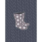 Cozy Day Journal Card- Rain Boots (3x4)