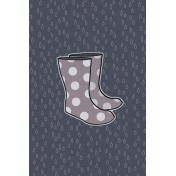 Cozy Day Journal Card- Rain Boots (4x6)