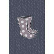 Cozy Day Journal Card- Rain Boots (4x6)