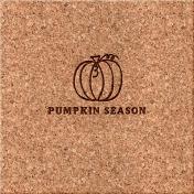 Cozy Day Journal Card- Pumpkin Season (4x4)