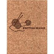 Cozy Day Journal Card- Knitting Season (3x4)