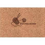 Cozy Day Journal Card- Knitting Season (4x6)