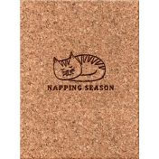 Cozy Day Journal Card- Napping Season (3x4)