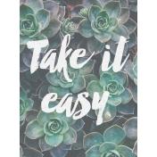 Cozy Day Journal Card- Take It Easy (3x4)