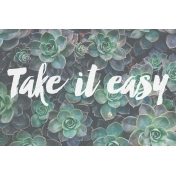 Cozy Day Journal Card- Take It Easy (4x6)