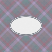 Cozy Day Journal Card- Plaid Label (4x4)