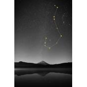 Cozy Day Journal Card- Scorpio Constellation (4x6)