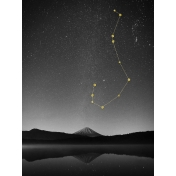 Cozy Day Journal Card- Scorpio Constellation (3x4)