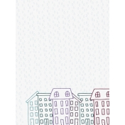 Cozy Day Journal Card- Houses (3x4 Vertical)