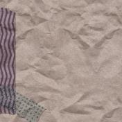 Cozy Day Journal Card- Washi Kraft (4x4)