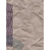 Cozy Day Journal Card- Washi Kraft (3x4)