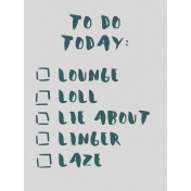 Cozy Day Journal Card- Lazy To-Do List (3x4)