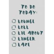 Cozy Day Journal Card- Lazy To-Do List (4x6)