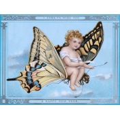 Vintage New Years Cards- Butterfly
