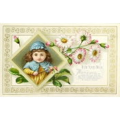 Vintage New Years Cards- Jester