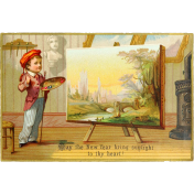 Vintage New Years Cards- Painter