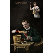 Vintage New Years Cards- Couple