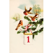 Vintage New Year Cards- Birds (No Words)