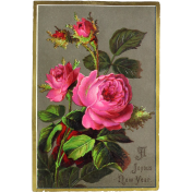 Vintage New Years Cards- Roses