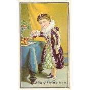 Vintage New Years Cards- Elizabethan Girl