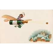 Vintage New Years Cards- Champlane (No Words)