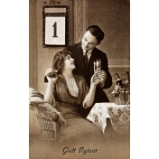 Vintage New Years Cards- Couple 2