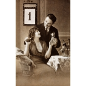 Vintage New Years Cards- Couple 2 (No Words)