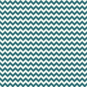 The Best Is Yet To Come 2017- Pattern Paper Teal Zigzag