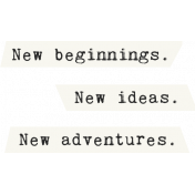 The Best Is Yet To Come 2017- New Beginnings Word Art