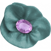 The Best Is Yet To Come 2017- Felt Flower with Gem