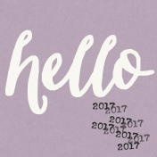 The Best Is Yet To Come 2017- Journal Card Hello 2 2017