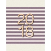 Best is Yet To Come 2018- Journal Card- 2018 on Purple Striped (3x4)