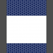 Pocket Basics 2 Minimalist Journal Card Templates- Layered Template- Double Pattern Border 3x4