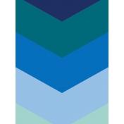 Pocket Basics 2 Bold Journal Card Template- Layered Template-Chevron (3x4)