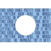 Pocket Basics 2 Bold Journal Card Template- Layered Template-Circle (4x6)