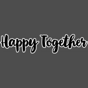 Pocket Basics 2- Pocket Titles- Layered Template- Happy Together