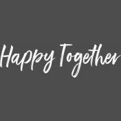 Pocket Basics 2- Pocket Titles- Template- Happy Together 3