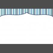Pocket Basics 2 Classic Journal Card- Layered Template- Bracket Stripe (4x6)