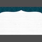Pocket Basics 2 Classic Journal Card- Layered Template- Bracket (4x6) Horizontal