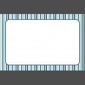 Pocket Basics 2 Classic Journal Card- Layered Template- Border Stripe (4x6)