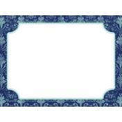 Pocket Basics 2 Classic Journal Card- Layered Template- Damask (3x4)- Horizontal