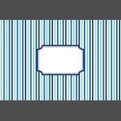 Pocket Basics 2 Classic Journal Card- Layered Template- Label Stripe (4x6)