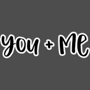 Pocket Basics 2- Pocket Titles- Layered Template- You + Me