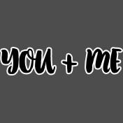 Pocket Basics 2- Pocket Titles- Layered Template- You + Me 3