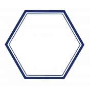 Pocket Basics 2 Label- Layered Template- Hexigon Big