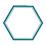 Pocket Basics 2 Label- Layered Template- Hexigon Medium
